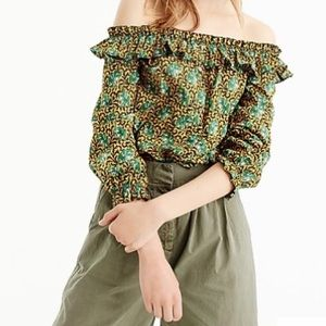 Off-the-shoulder top in Ratti® elephant print